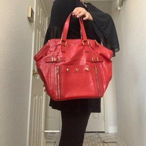authentic ysl Yves Saint Laurent Bag Reds Leather